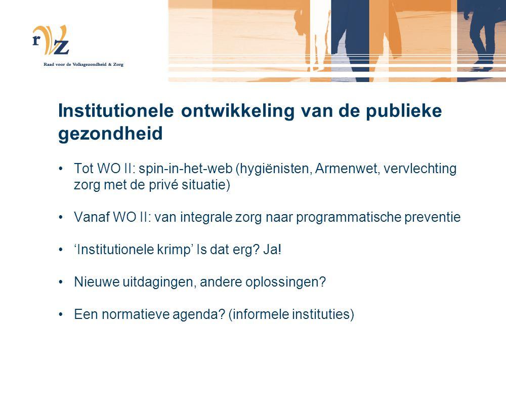 Institutionele ontwikkeling van de publieke gezondheid