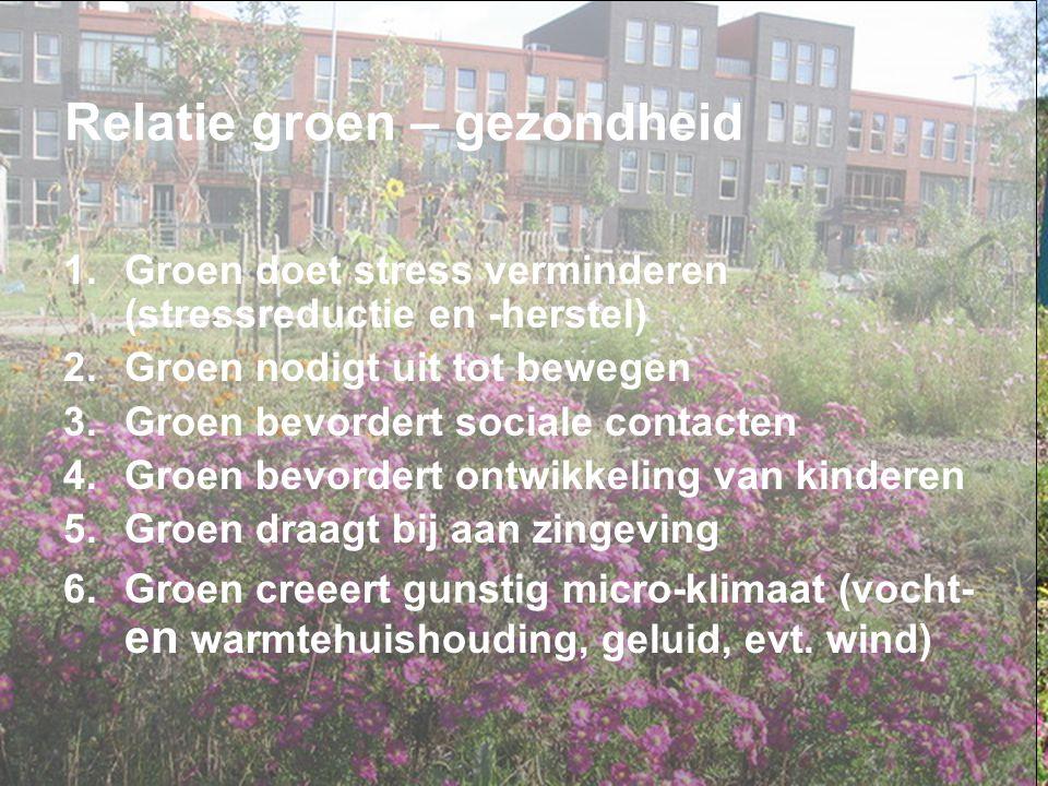 Relatie groen – gezondheid