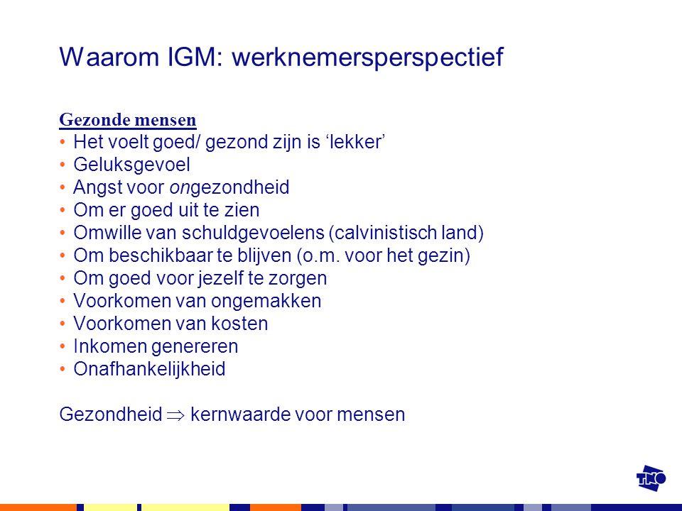 Waarom IGM: werknemersperspectief