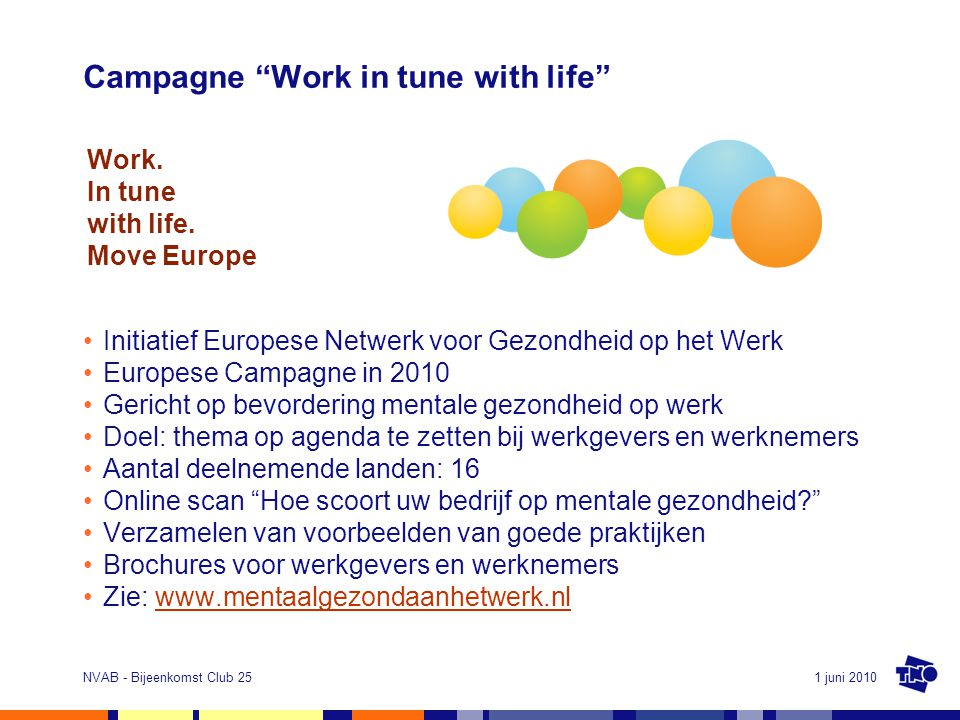 Campagne Work in tune with life