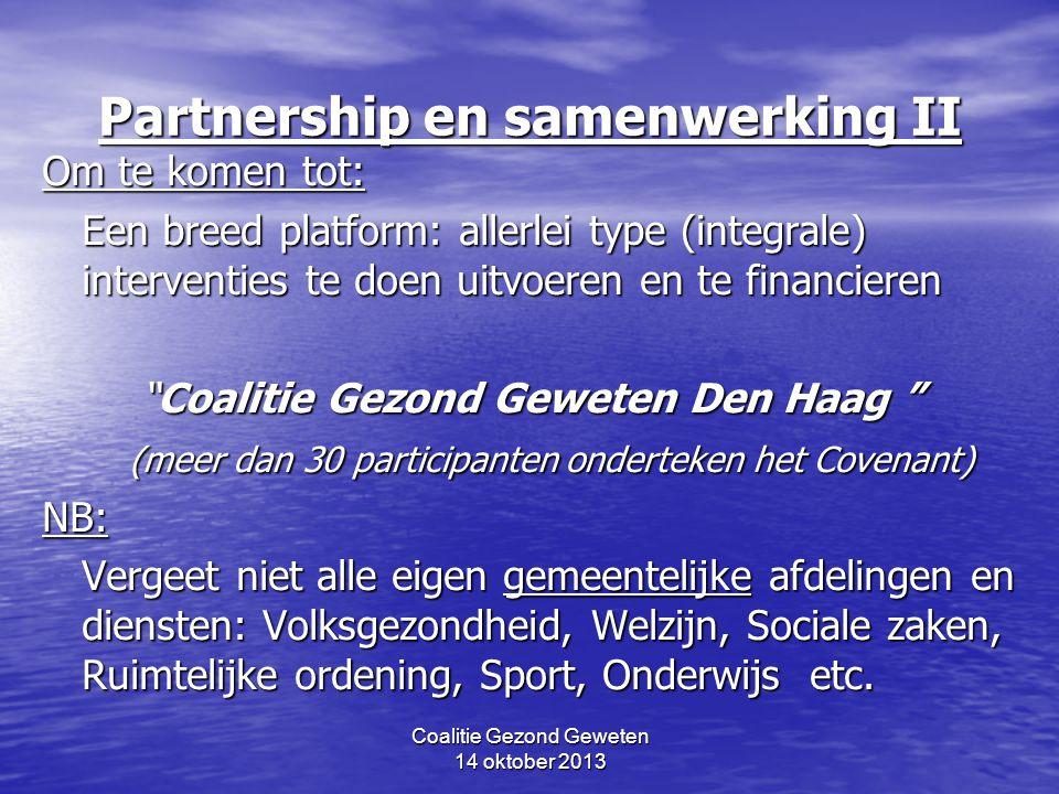 Partnership en samenwerking II