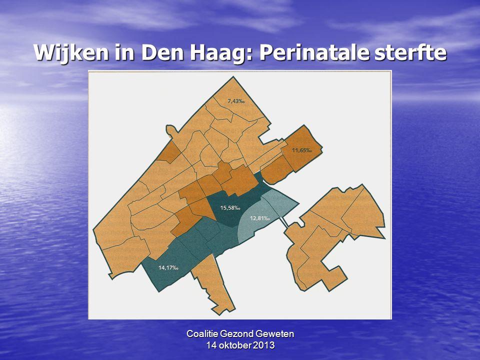 Wijken in Den Haag: Perinatale sterfte