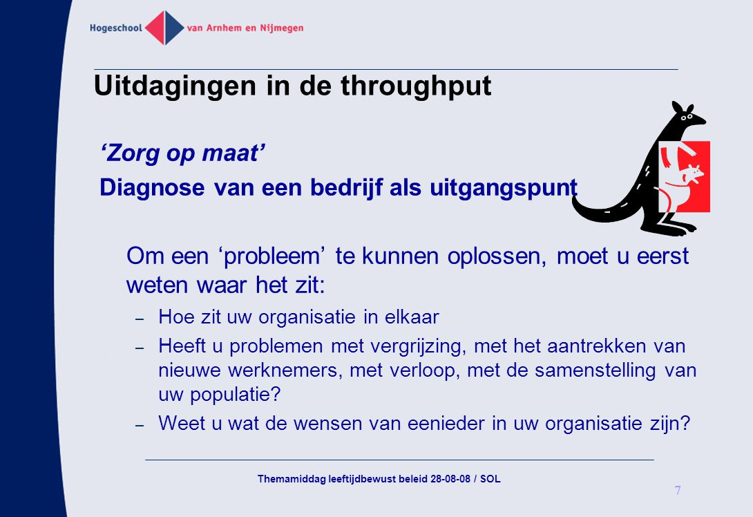 Uitdagingen in de throughput