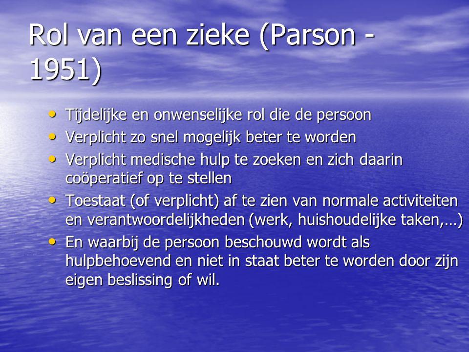 Rol van een zieke (Parson -1951)
