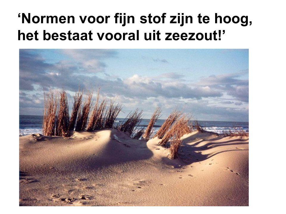 'Normen voor fijn stof zijn te hoog, het bestaat vooral uit zeezout!'