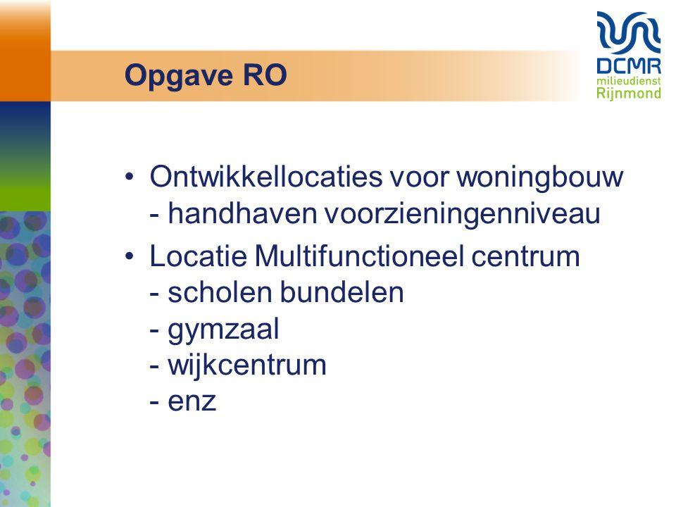 Opgave RO Ontwikkellocaties voor woningbouw - handhaven voorzieningenniveau.