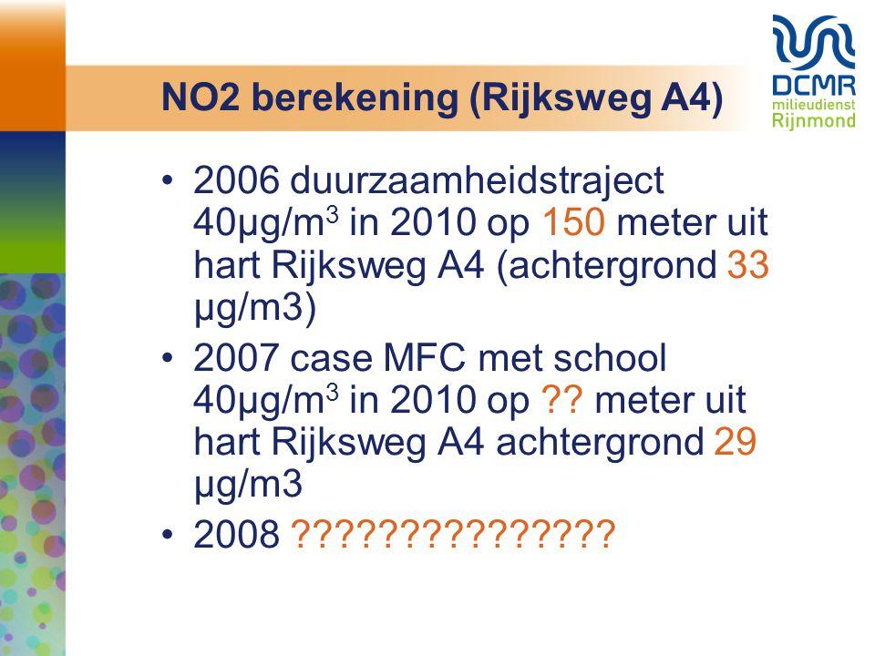 NO2 berekening (Rijksweg A4)