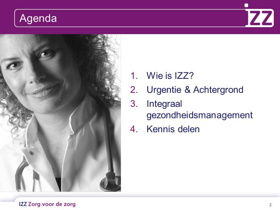 Agenda Wie is IZZ Urgentie & Achtergrond