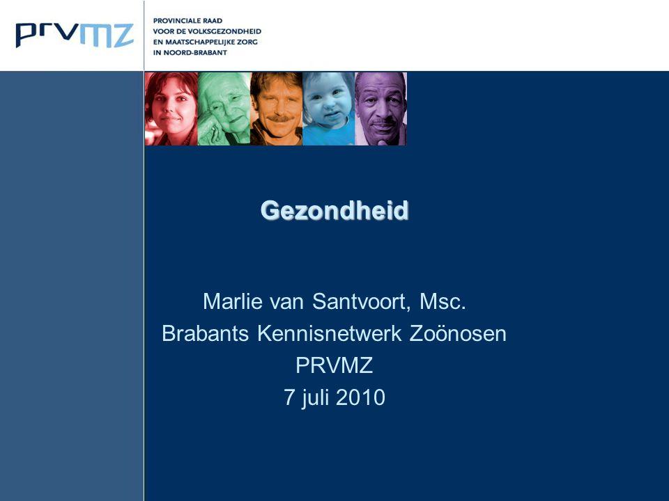 Gezondheid Marlie van Santvoort, Msc. Brabants Kennisnetwerk Zoönosen