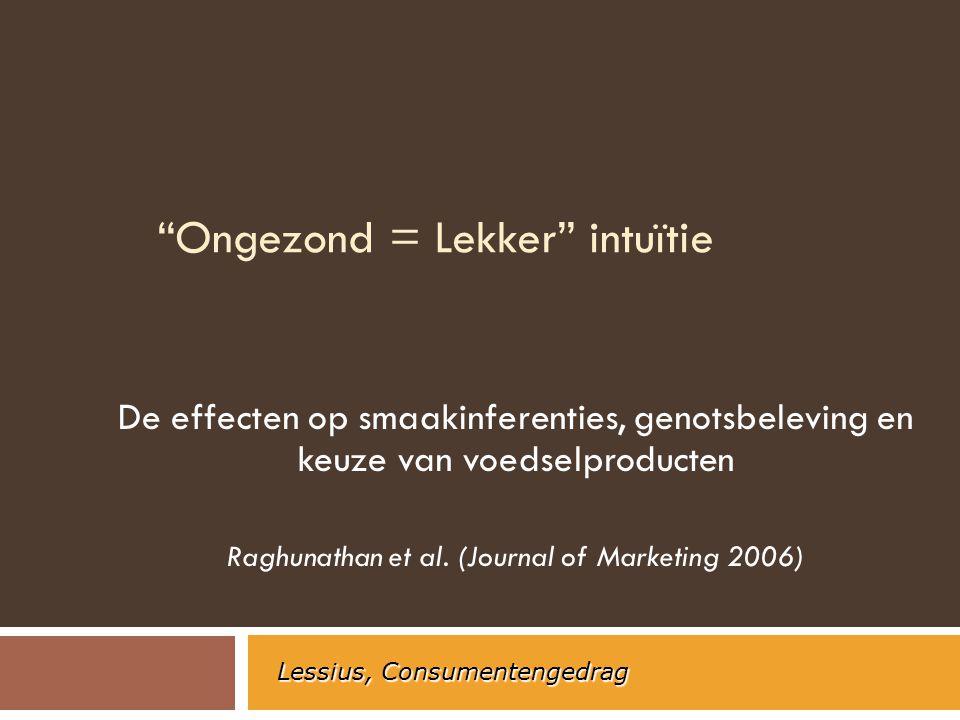 Ongezond = Lekker intuïtie