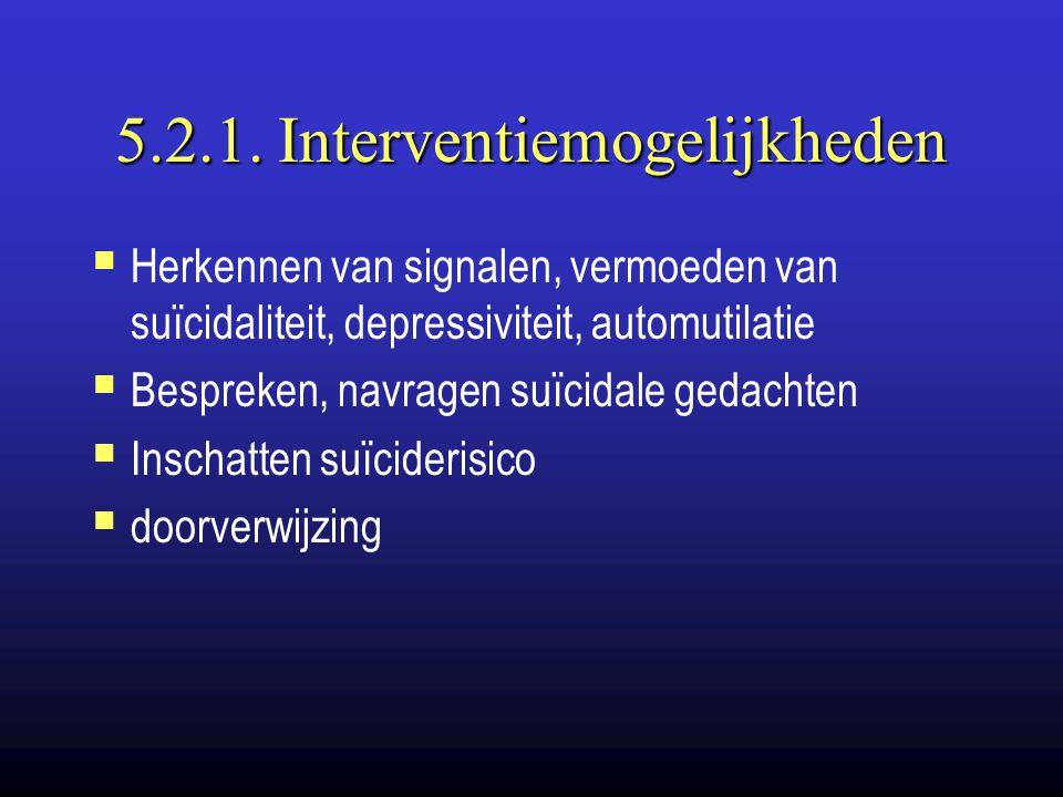 5.2.1. Interventiemogelijkheden