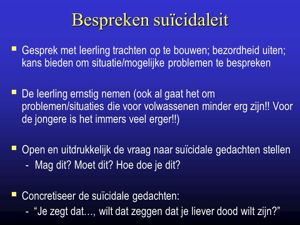 Bespreken suïcidaleit