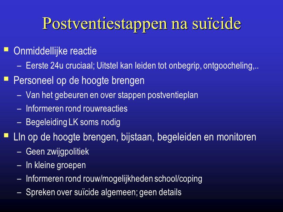 Postventiestappen na suïcide