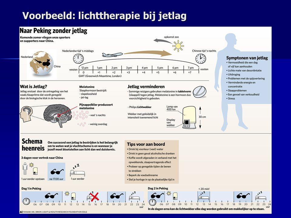 Voorbeeld: lichttherapie bij jetlag