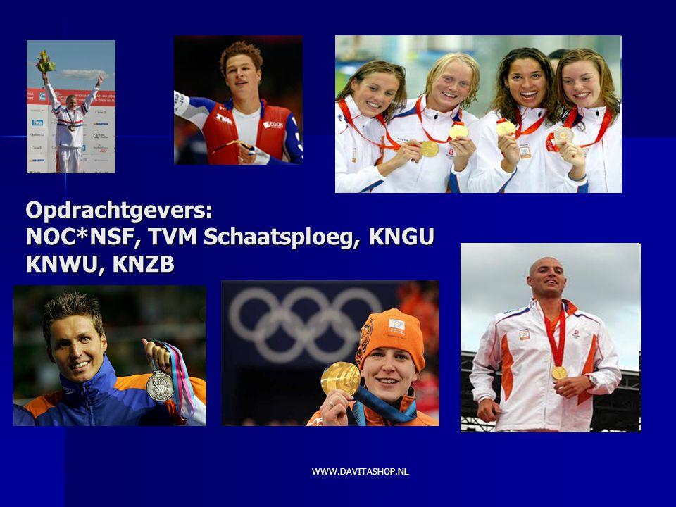Opdrachtgevers: NOC*NSF, TVM Schaatsploeg, KNGU KNWU, KNZB