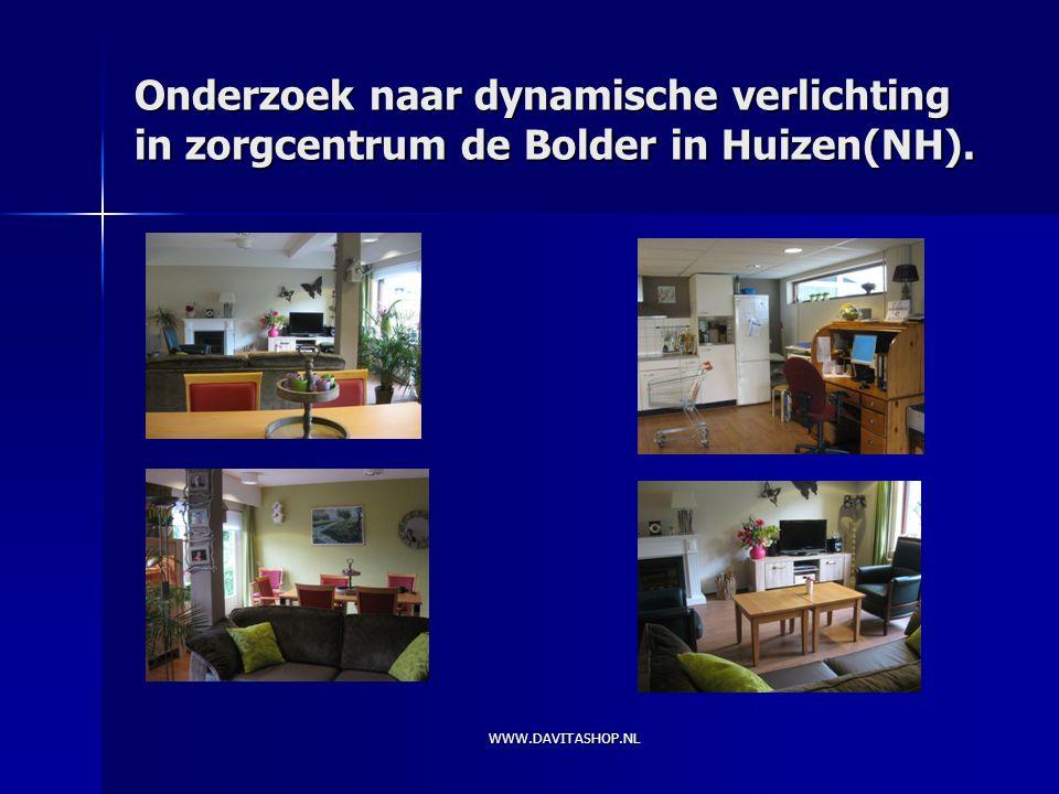 Onderzoek naar dynamische verlichting in zorgcentrum de Bolder in Huizen(NH).
