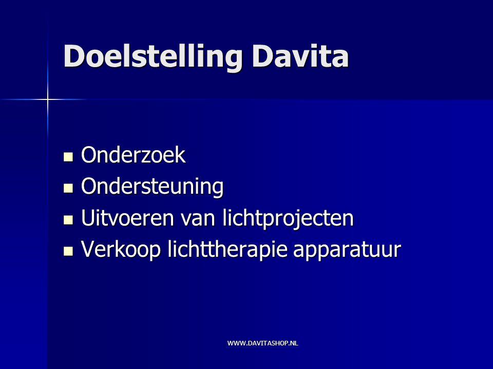 Doelstelling Davita Onderzoek Ondersteuning