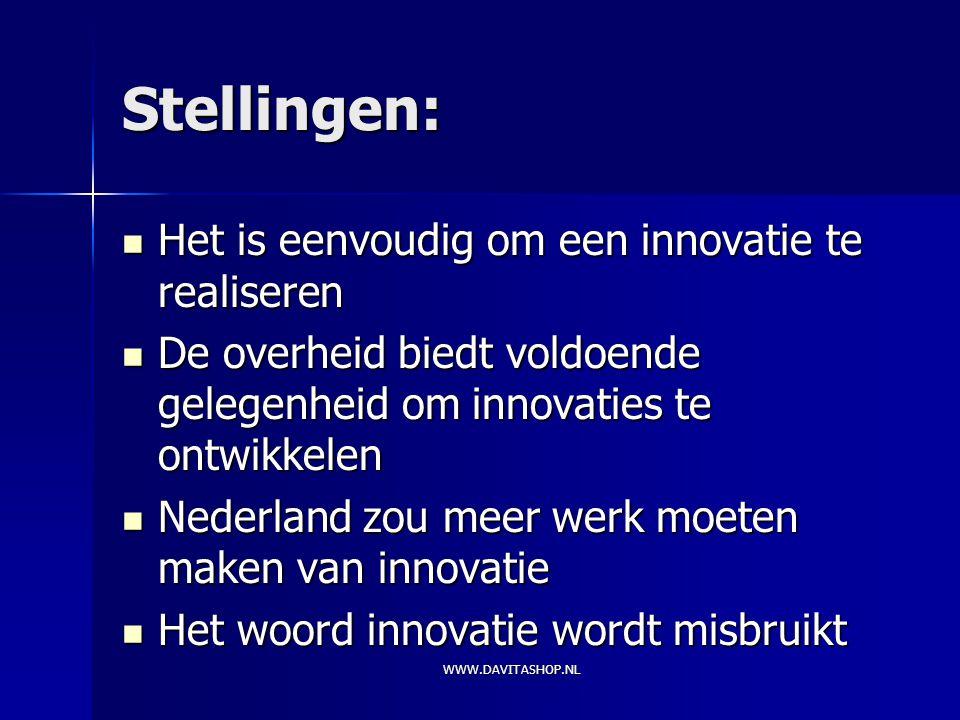 Stellingen: Het is eenvoudig om een innovatie te realiseren