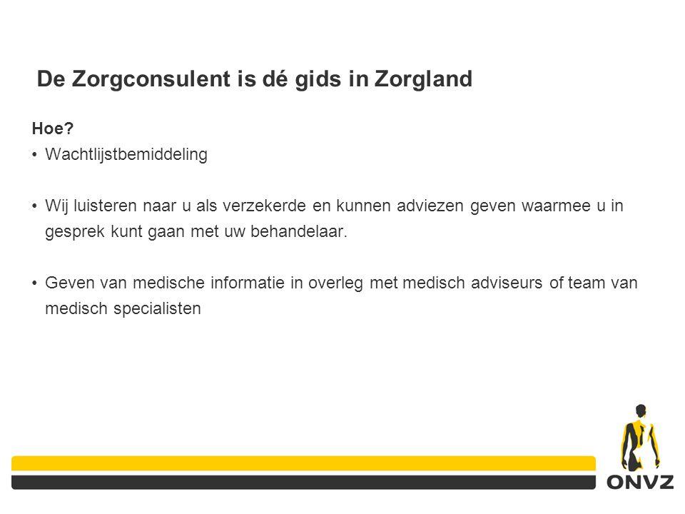De Zorgconsulent is dé gids in Zorgland