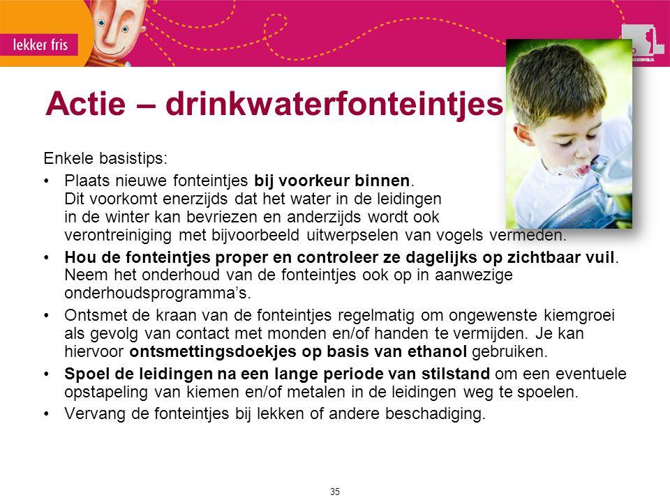 Actie – drinkwaterfonteintjes