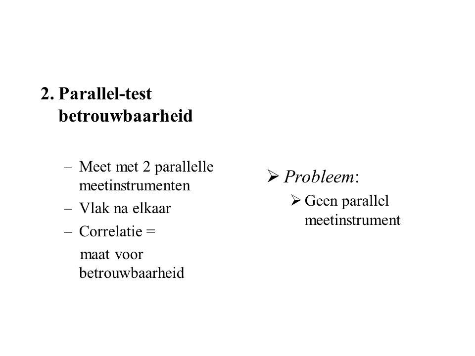 2. Parallel-test betrouwbaarheid