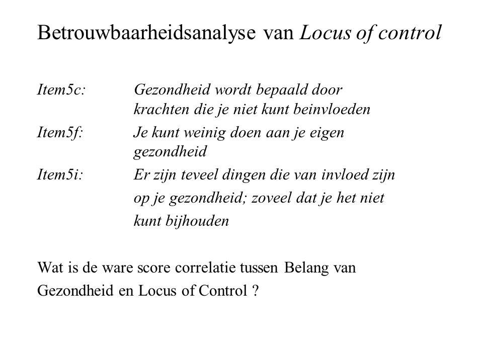 Betrouwbaarheidsanalyse van Locus of control