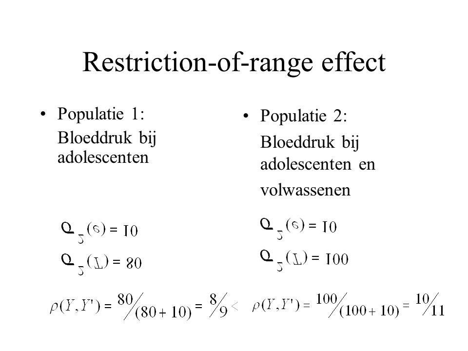 Restriction-of-range effect