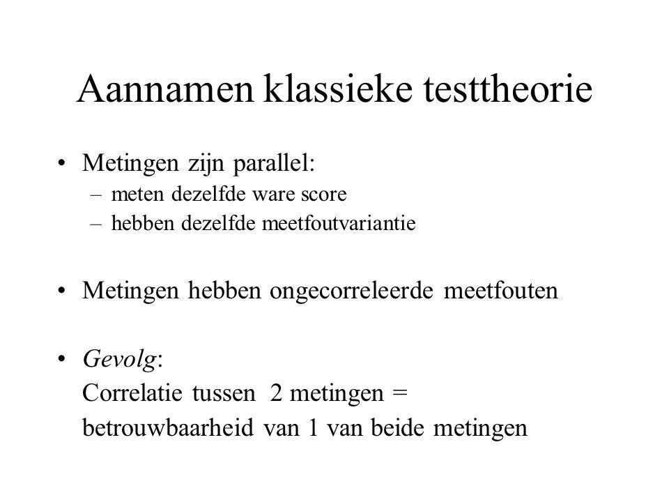 Aannamen klassieke testtheorie