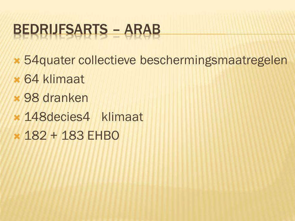 bedrijfsarts – arab 54quater collectieve beschermingsmaatregelen