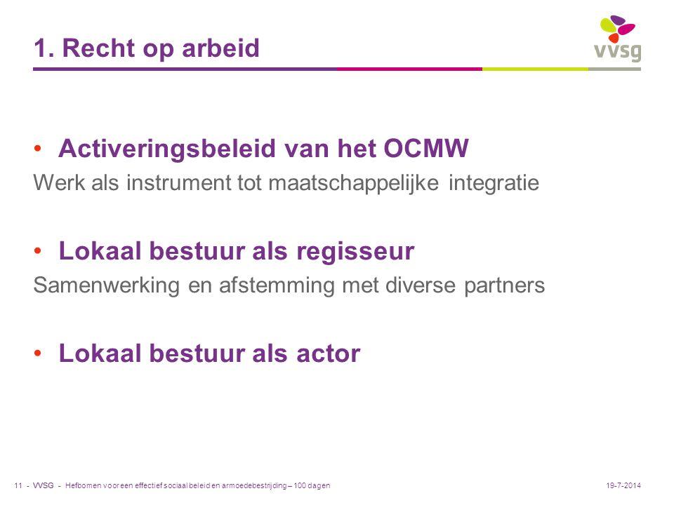 Activeringsbeleid van het OCMW