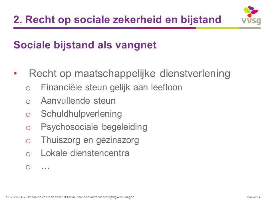 2. Recht op sociale zekerheid en bijstand