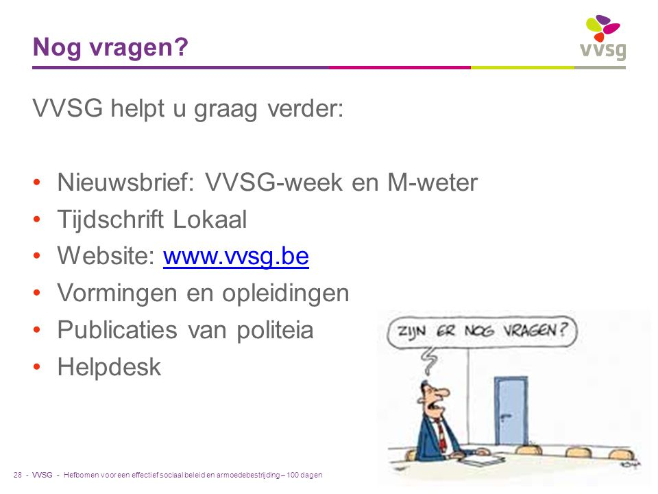 VVSG helpt u graag verder: Nieuwsbrief: VVSG-week en M-weter