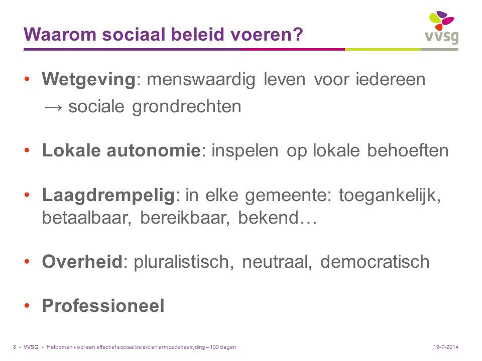 Waarom sociaal beleid voeren