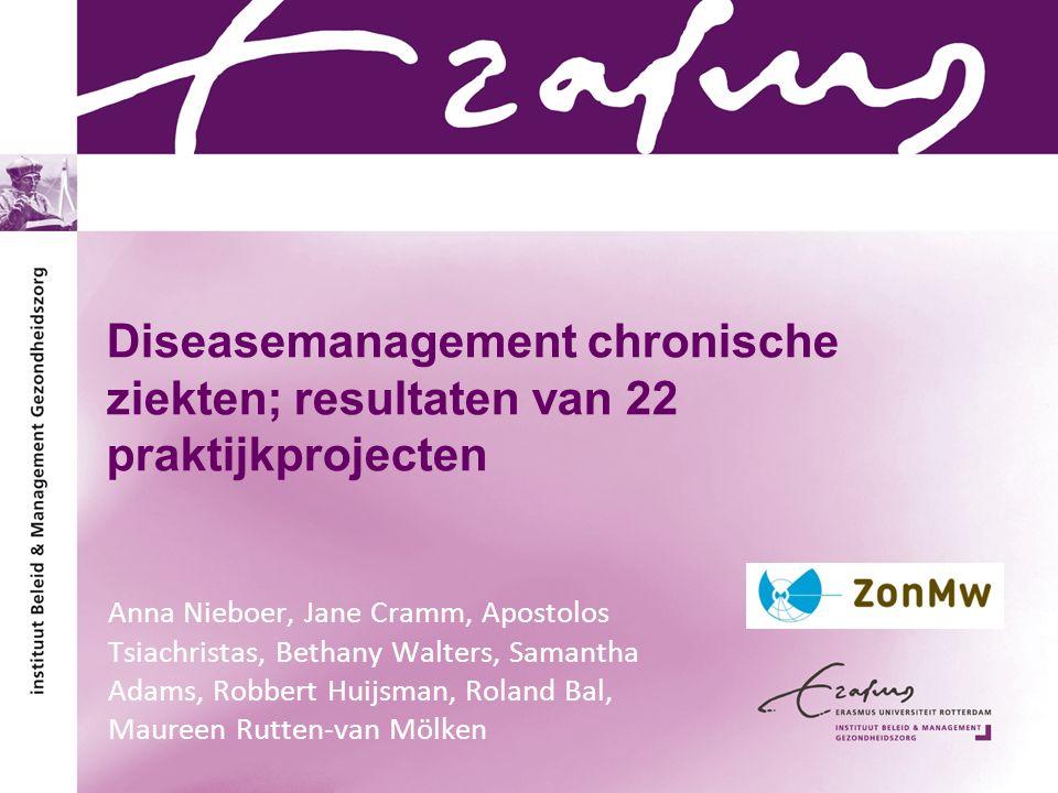 Diseasemanagement chronische ziekten; resultaten van 22 praktijkprojecten