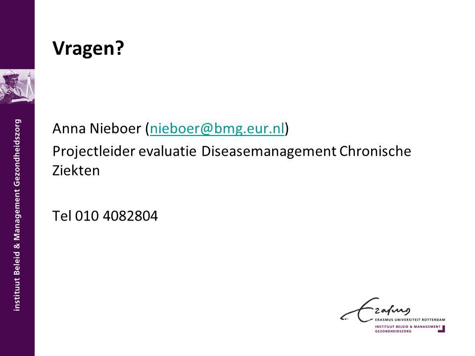 Vragen Anna Nieboer (nieboer@bmg.eur.nl)