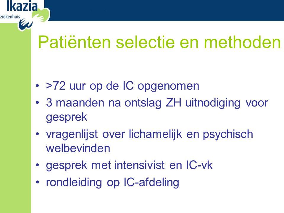 Patiënten selectie en methoden