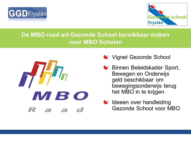 De MBO raad wil Gezonde School bereikbaar maken voor MBO Scholen