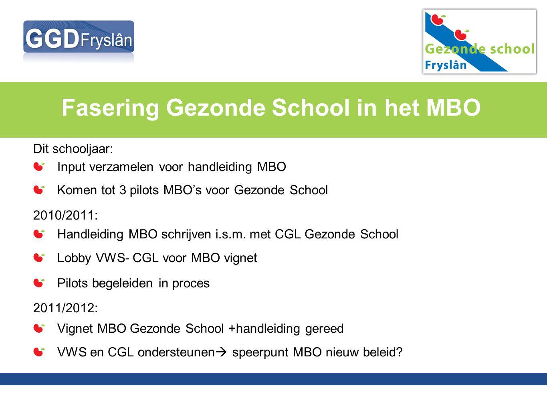 Fasering Gezonde School in het MBO