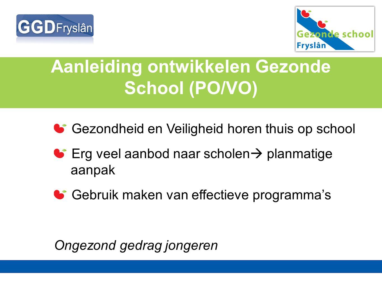 Aanleiding ontwikkelen Gezonde School (PO/VO)