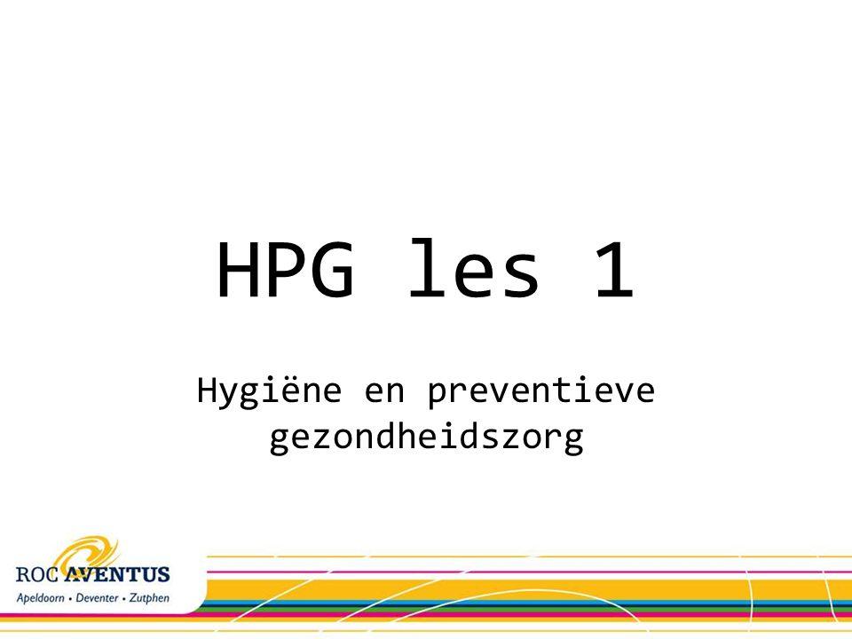 Hygiëne en preventieve gezondheidszorg