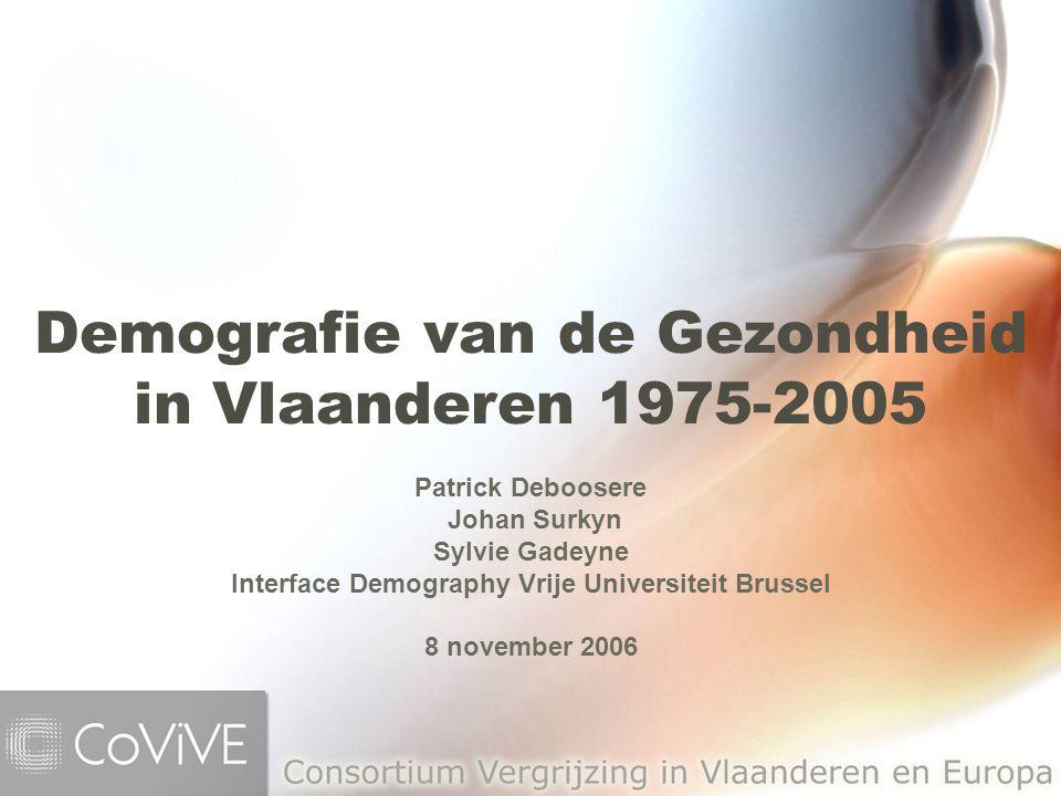 Demografie van de Gezondheid in Vlaanderen 1975-2005