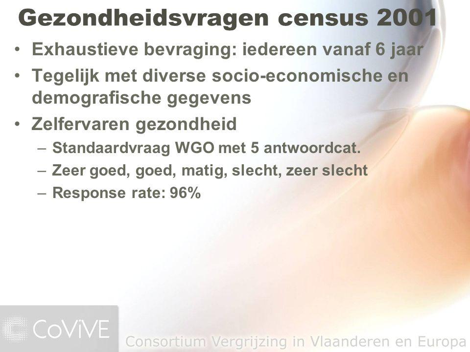 Gezondheidsvragen census 2001
