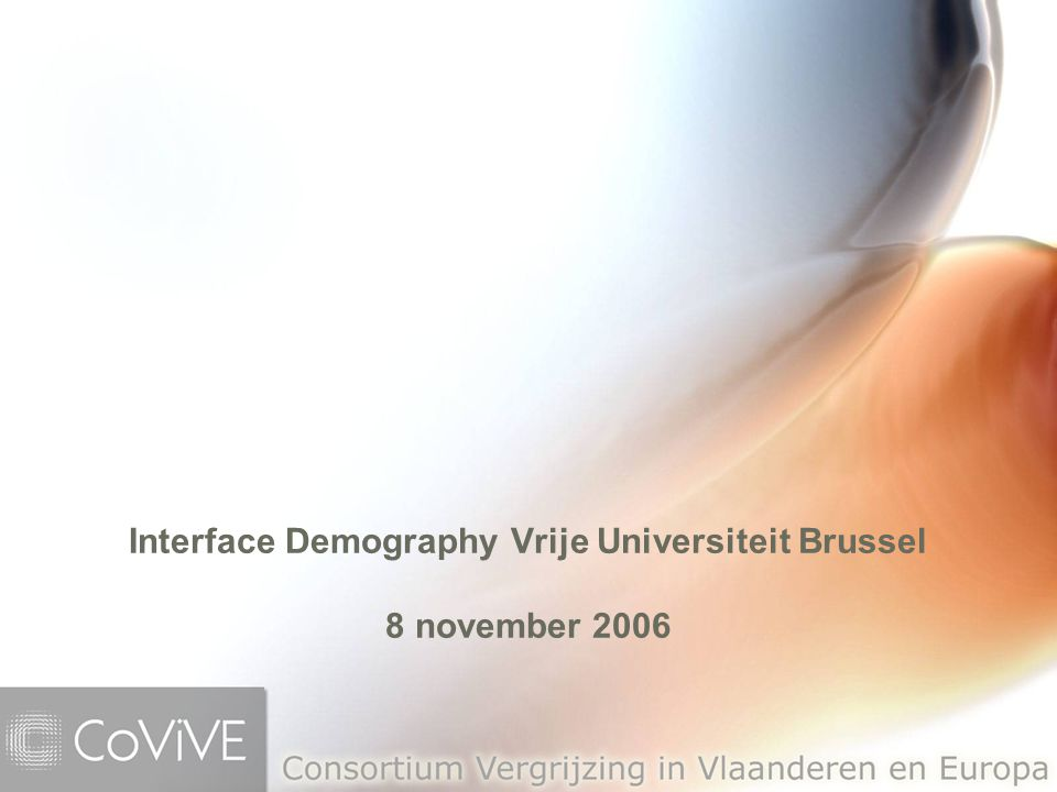 Interface Demography Vrije Universiteit Brussel 8 november 2006