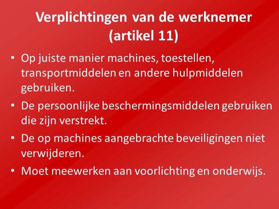 Verplichtingen van de werknemer (artikel 11)