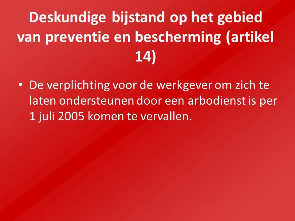 Deskundige bijstand op het gebied van preventie en bescherming (artikel 14)