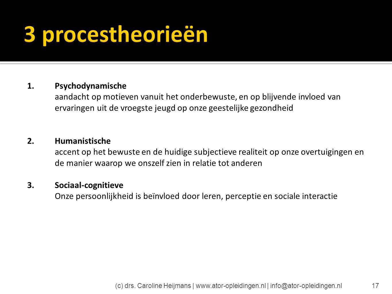 3 procestheorieën