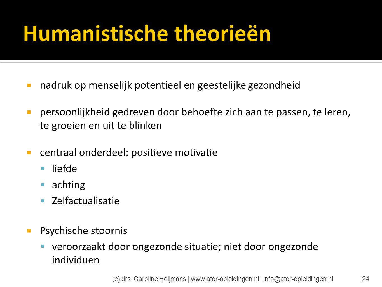 Humanistische theorieën