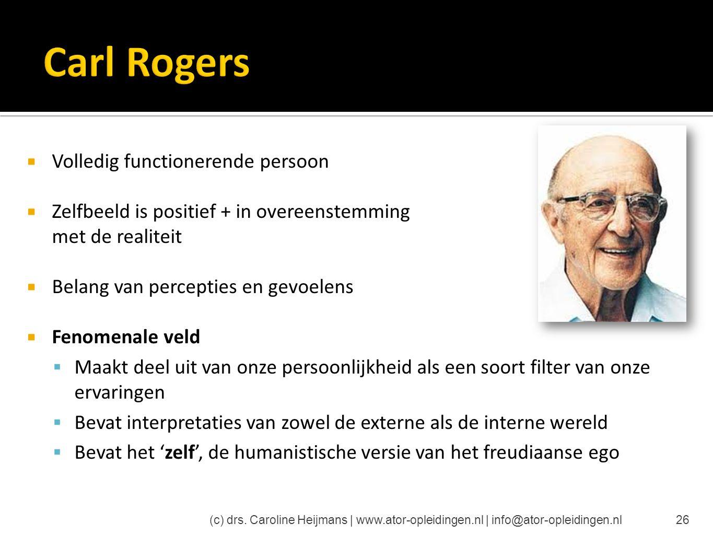 Carl Rogers Volledig functionerende persoon