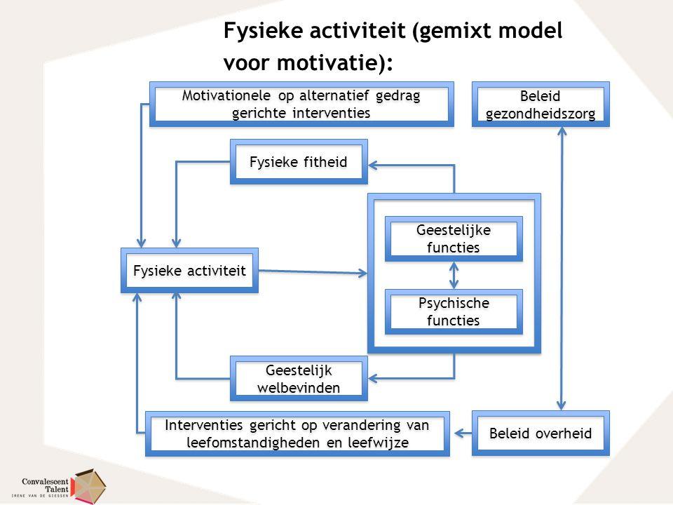 Fysieke activiteit (gemixt model voor motivatie):