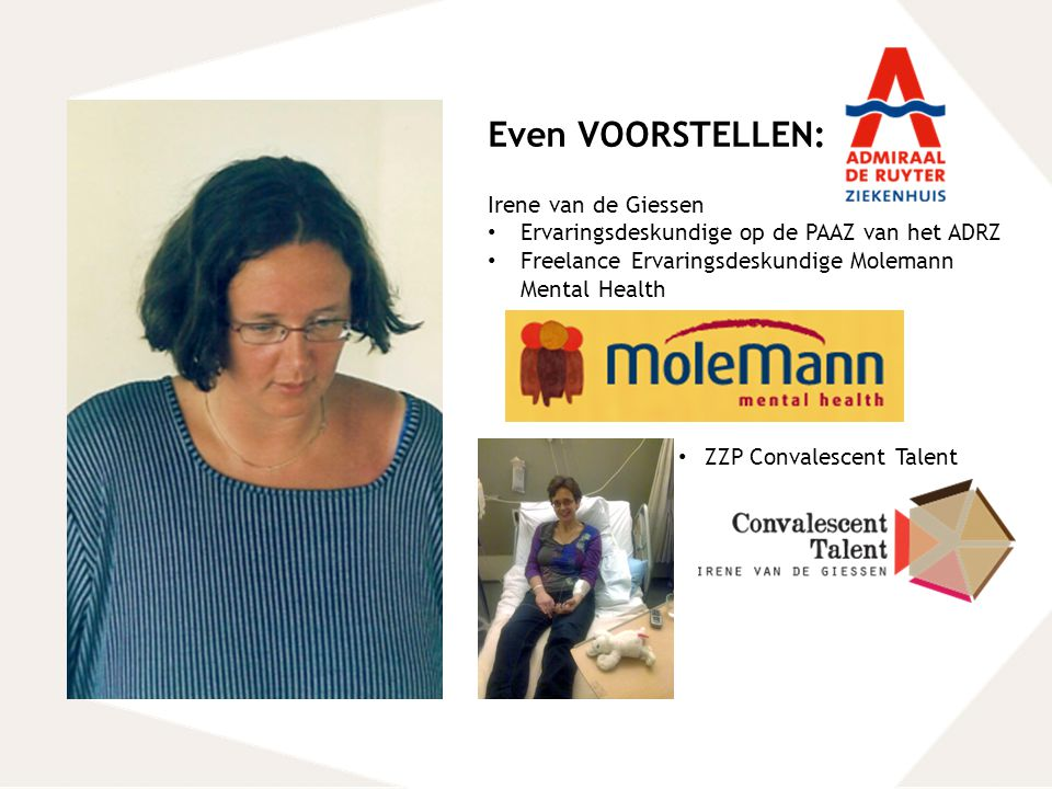 Even VOORSTELLEN: Irene van de Giessen